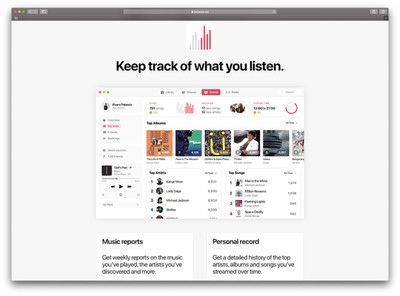 apple music stats concept