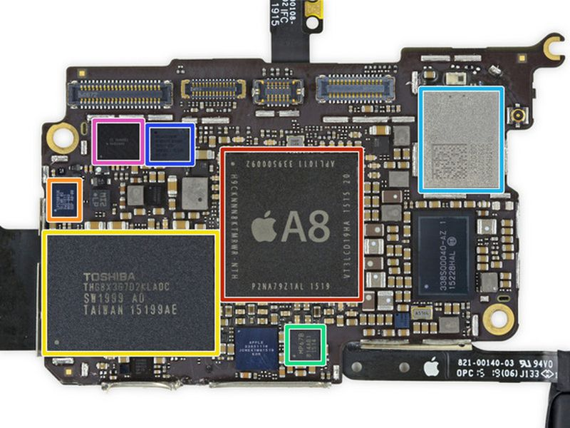 iPod touch 6G Logic Board