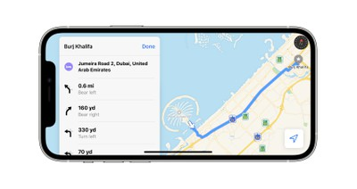 Apple Maps Expands Turn-by-Turn Directions for United Arab Emirates