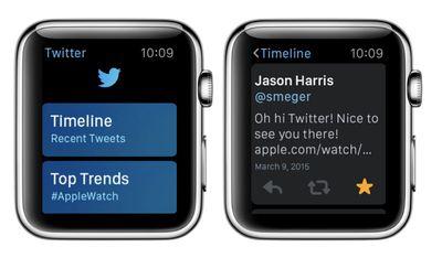 twitter apple watch