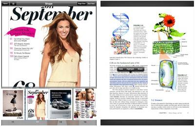 kindle ios magazines textbooks