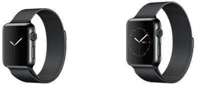 Apple Watch space black milanese loop