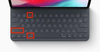 ipad keyboard shortcuts screenshots 1