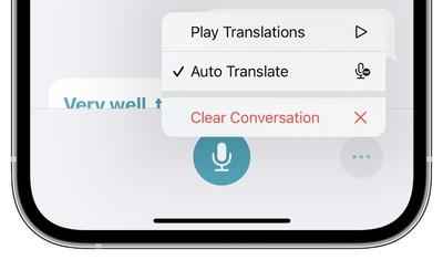 translate ios 15 auto translate
