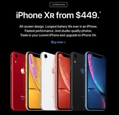 iphone xr apple homepage