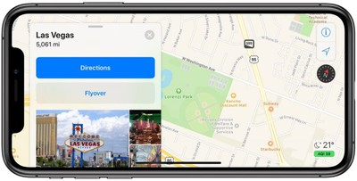 apple maps las vegas terrain