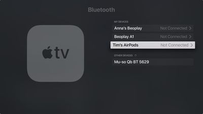 Remove AirPods from Apple TV 3
