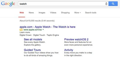 iWatch Google
