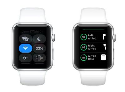 how to check AirPods battery on Apple Watch
