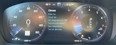 volvo s60 climate triggers