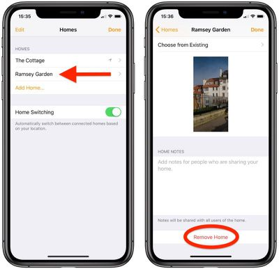 how to remove a second home apple homekit 3