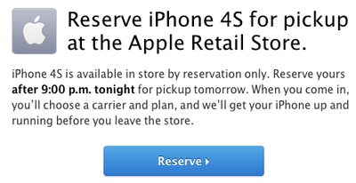 iphone 4s reserve