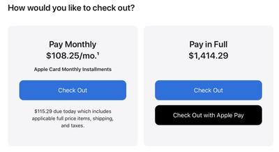 apple card mac installments checkout
