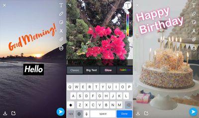 new snapchat captions