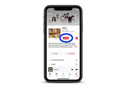 add apple music to your library 2