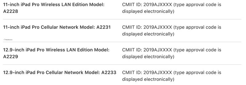 Four New iPad Pro Models Spotted in Chinese User Manual on Apple's Website [Updated]
