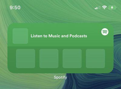 spotify widget beta