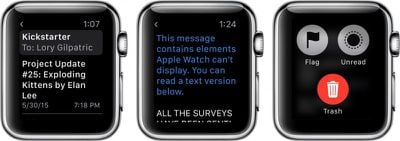 Mail on Apple Watch 1