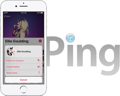 apple music connect itunes ping