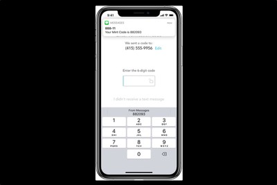 one time passcode sms black background