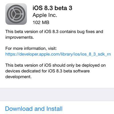ios 8 3 beta 3