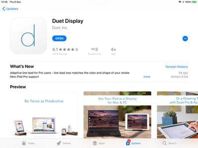 duet display app store
