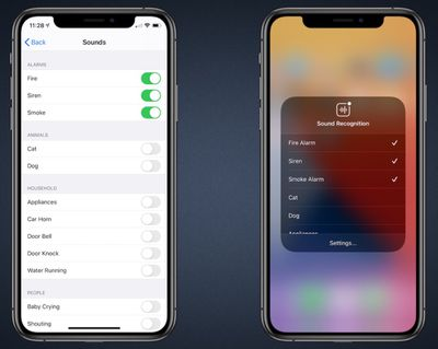 ios 14 sound recognition accessibility feature