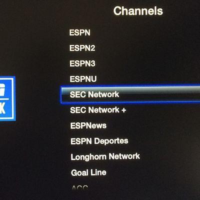 sec longhorn apple tv
