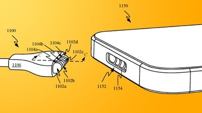 iPhone MagSafe Patent Feature Yellow