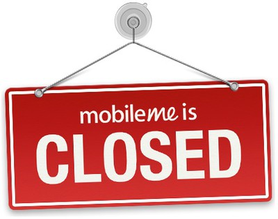 mobileme closed sign