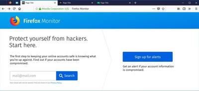 Firefox Monitor Homepage2