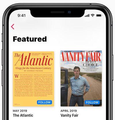 apple news follow