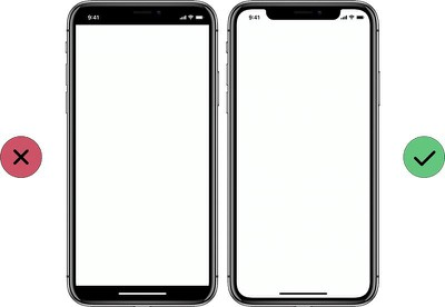 iphone x top bottom bars