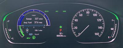 accord hybrid driver display