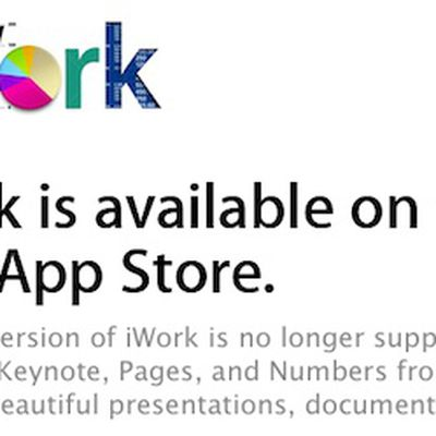 iwork trial discontinued