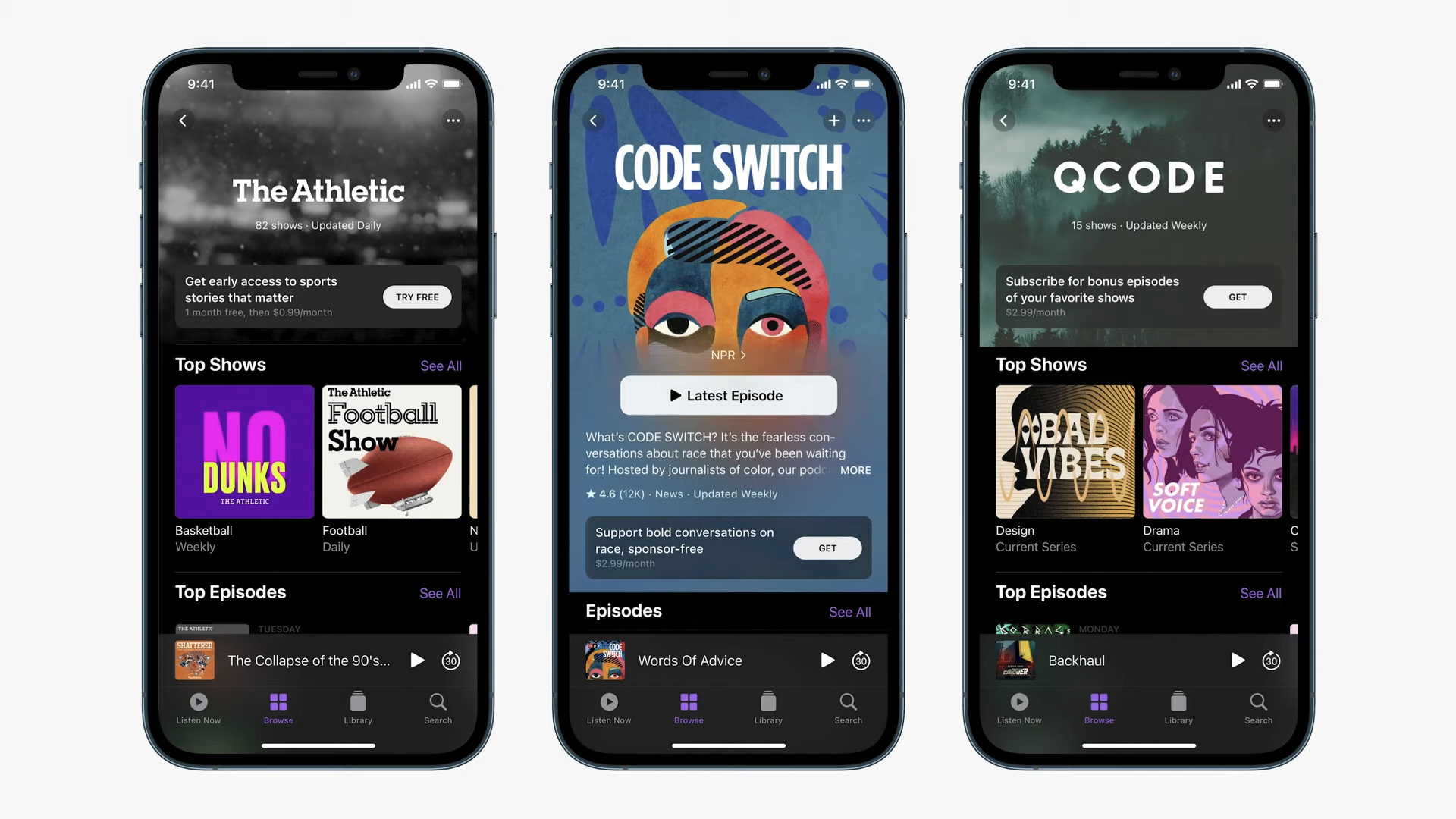 photo of Apple Launches Podcasts Subscriptions image