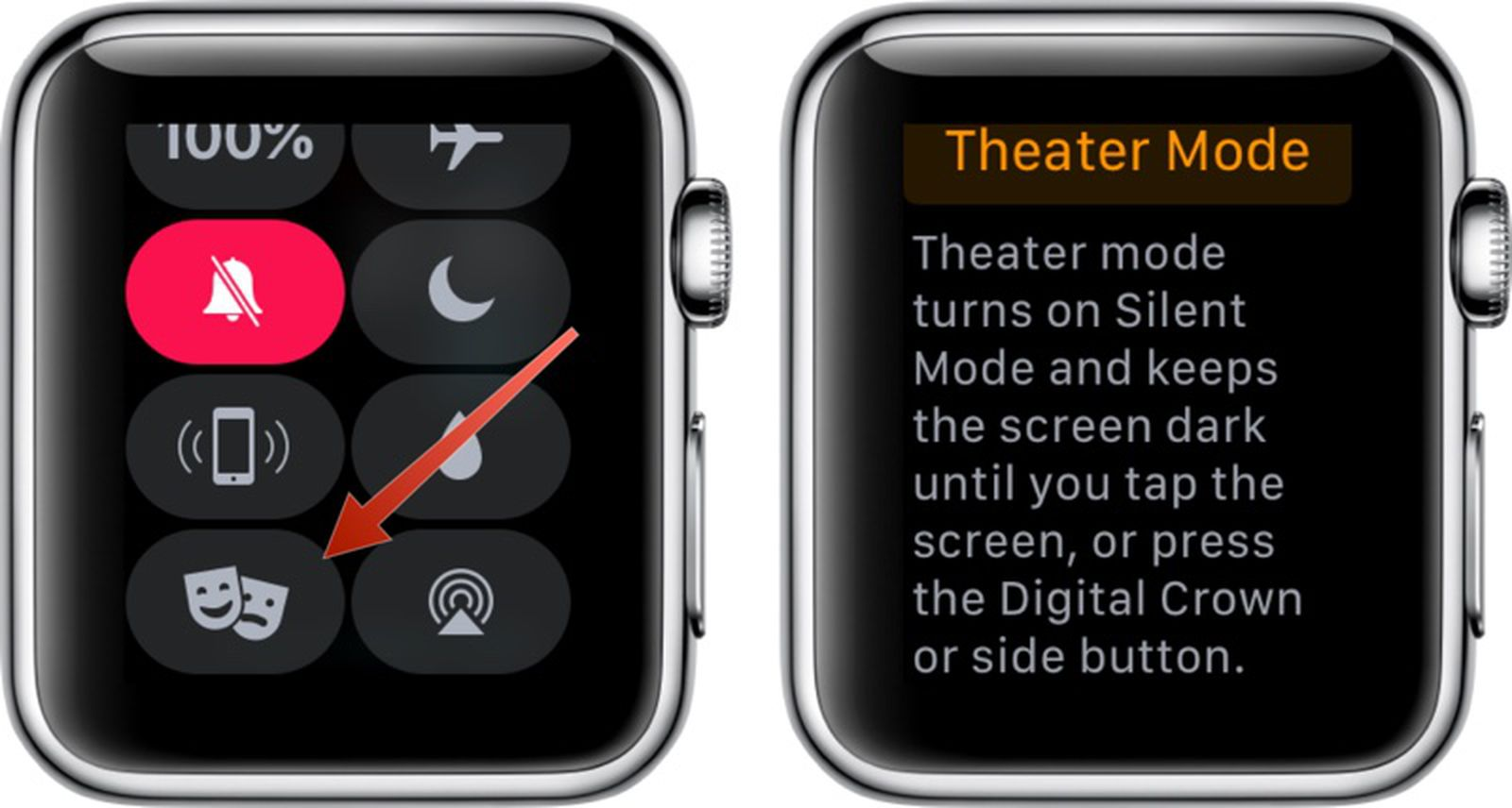 Apple watch theater mode