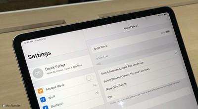 ipad settings apple pencil