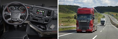 scania trucks carplay