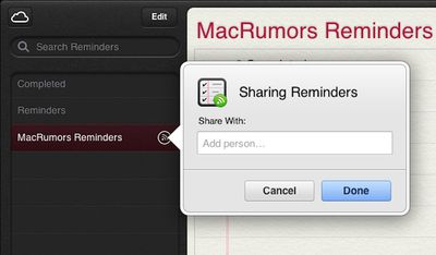 icloud com shared reminders