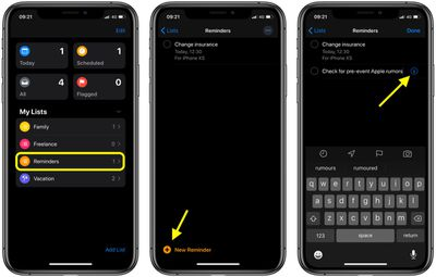 how to add notes and URLs to reminders in iOS 2