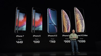 2018 iphone prices