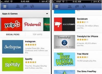 facebook app center ios 2