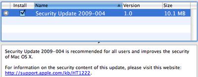 164128 security update 2009 004