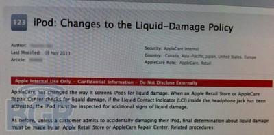 114559 ipod liquid damage policy 500