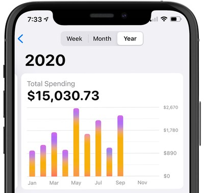 apple card yearly spending activity