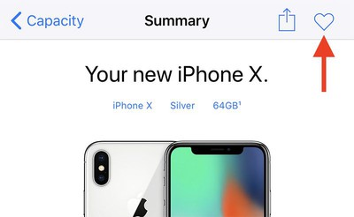 iphone x pre order summary