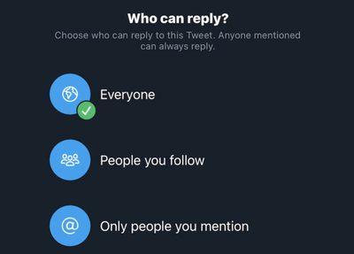 twitter limit replies feature