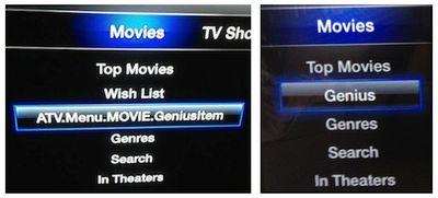 apple tv genius option combined