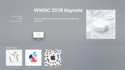 apple tv events app wwdc18